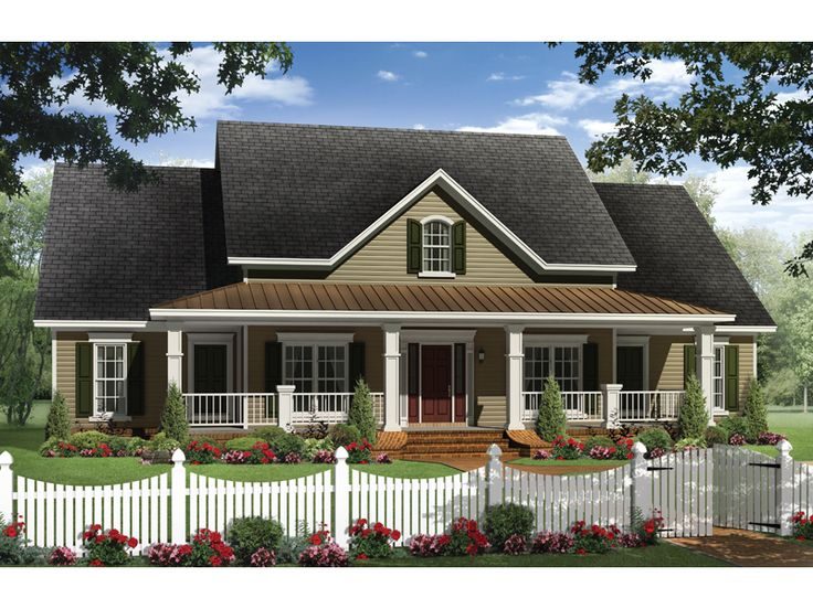 Boschert Country Ranch Home Plan 077D-0191 | House Plans and More
