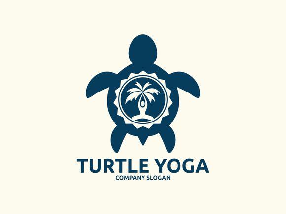 Turtle Yoga logo by Brandlogo on Creative Market