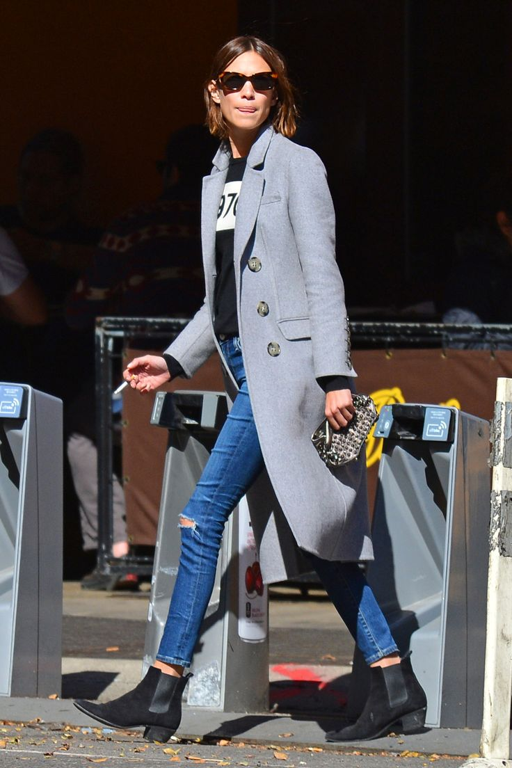"""alexachungdirectory: """" Alexa Chung out and about in New York on October 15…"""