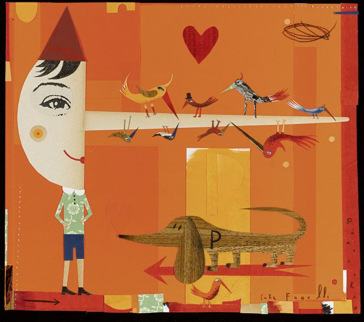 Credits: Sara Fanelli – 'Pinocchio' – House Of Illustration