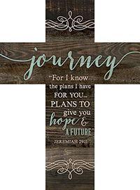 Journey Jeremiah 29:11 Rustic Dark 14 x 10 Wood Wall Art Cross Plaque                                                                                                                                                                                 Más