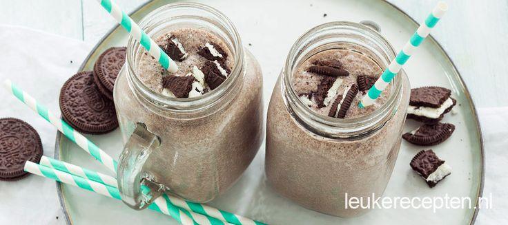 Oreo banaan milkshake - Leuke recepten