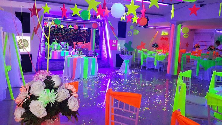 invitaciones neon party - Buscar con Google