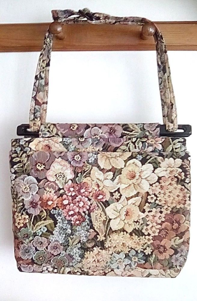 Vtg Toby Weston Bag Flower Hobo Tapestry Hand Adjule Strap Canvas Purse Fashion Clothing Shoes Accessories Womensbagshandbags Ad Ebay Link
