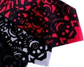 Dia de los Muertos tie - standard, narrow or skinny sugar skull tie. Papel picado screenprinted microfiber necktie.. $30.00, via Etsy.