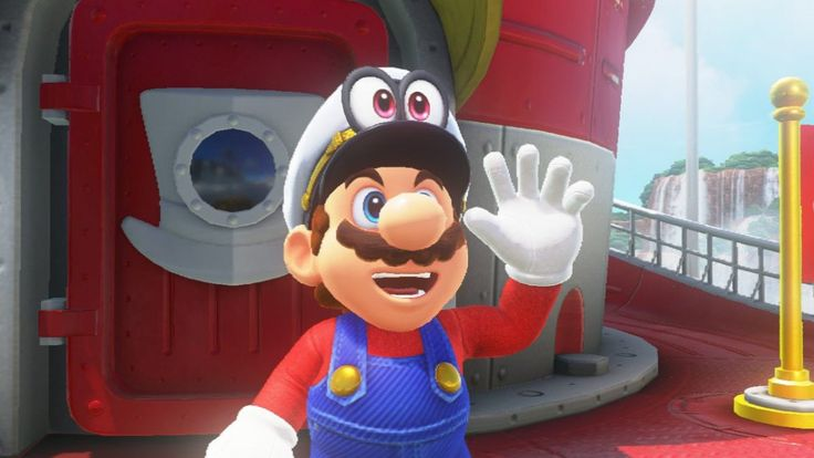 Super Mario (in front of the) Odyssey
