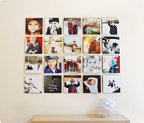 photo wall - 12X12 canvases of my favorite all time photos?