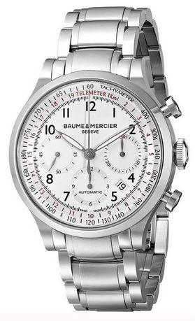 Baume_&_Mercier_Men's_BMMOA10061_Capeland_Analog_Display_Swiss_Automatic_Silver_Watch