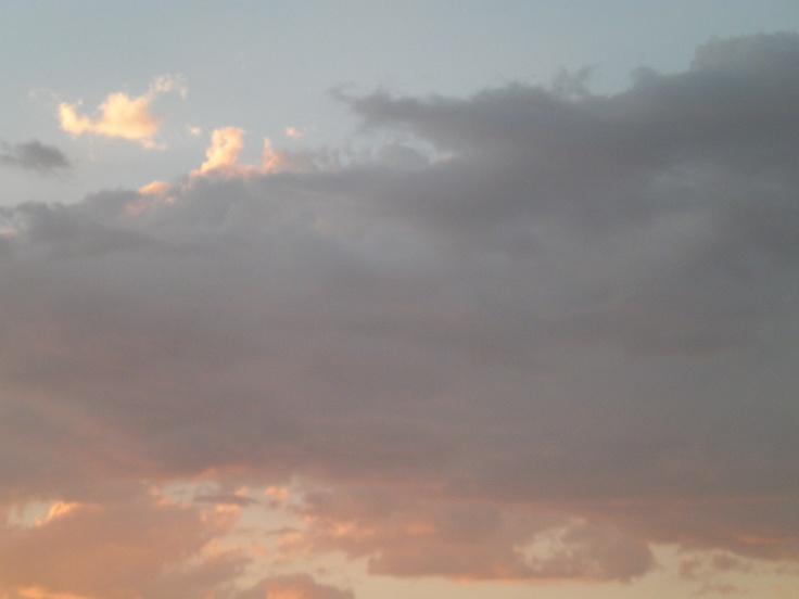 autumn clouds...