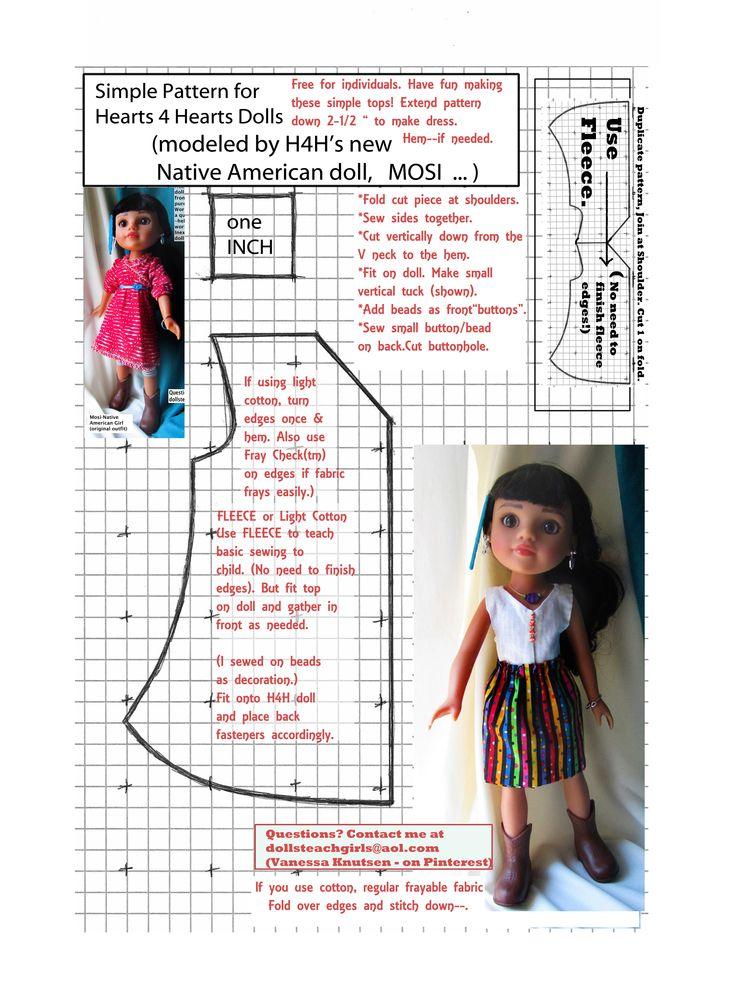 Patron pour poupée H4H 35 cm