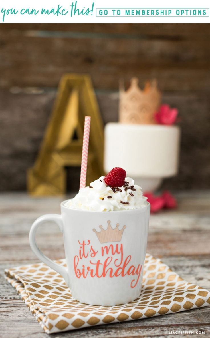 Sip Sip Hooray! It's Your Birthday! ☕️ Kick off your birthday celebration with this easy peasy birthday mug decal. What a better way to spoil someone on their big day than with a birthday suit for their coffee? https://liagriffith.com/birthday-mug-decal/ * * * #birthday #happybirthdaytome #coffee #coffeeislife #birthdaycoffee #svg #vinyl #decal #diy #diybirthday #diycraft #diycrafts #diyproject #diyprojects #mug #mugprinting #madewithlia