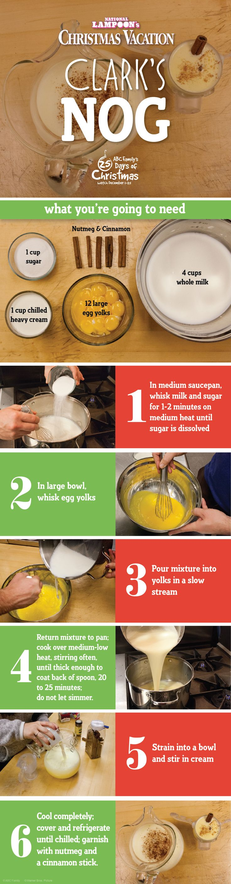 Try this awesome National Lampoon's Christmas Vacation inspired Egg Nog Recipe! | 25 Days of Christmas