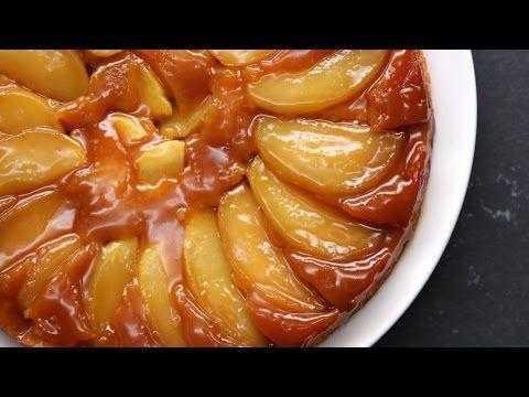 Caramel Apple Upside-Down Cake - YouTube