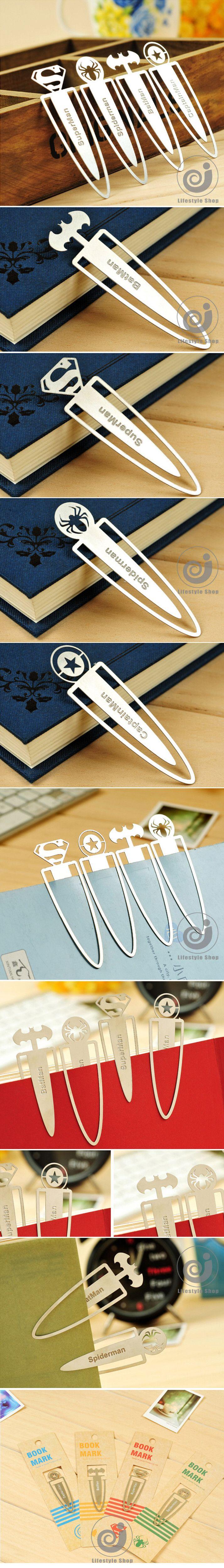 4 pçs/lote dos desenhos animados herói série mini metal marcador livro titular marcador de livro material escolar papelaria papelaria em Marcador de páginas de Escritório & material escolar no AliExpress.com   Alibaba Group