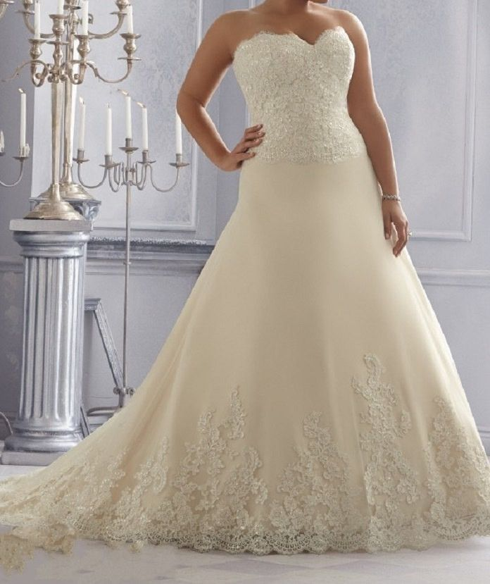 Sweetheart Lace Wedding Gown at Bling Brides Bouquet online