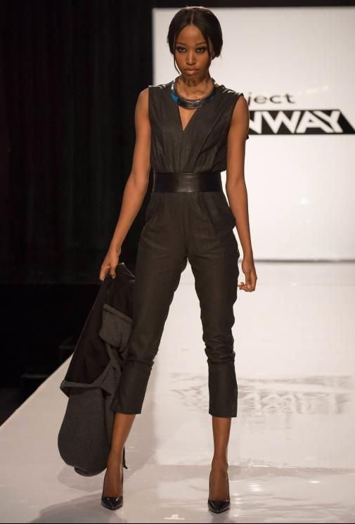 I agree, not futuristic, more now but soooo cute. And the SHOES! | Project Runway Season 13 Rate the Runway Emily Payne Episode 3 Look