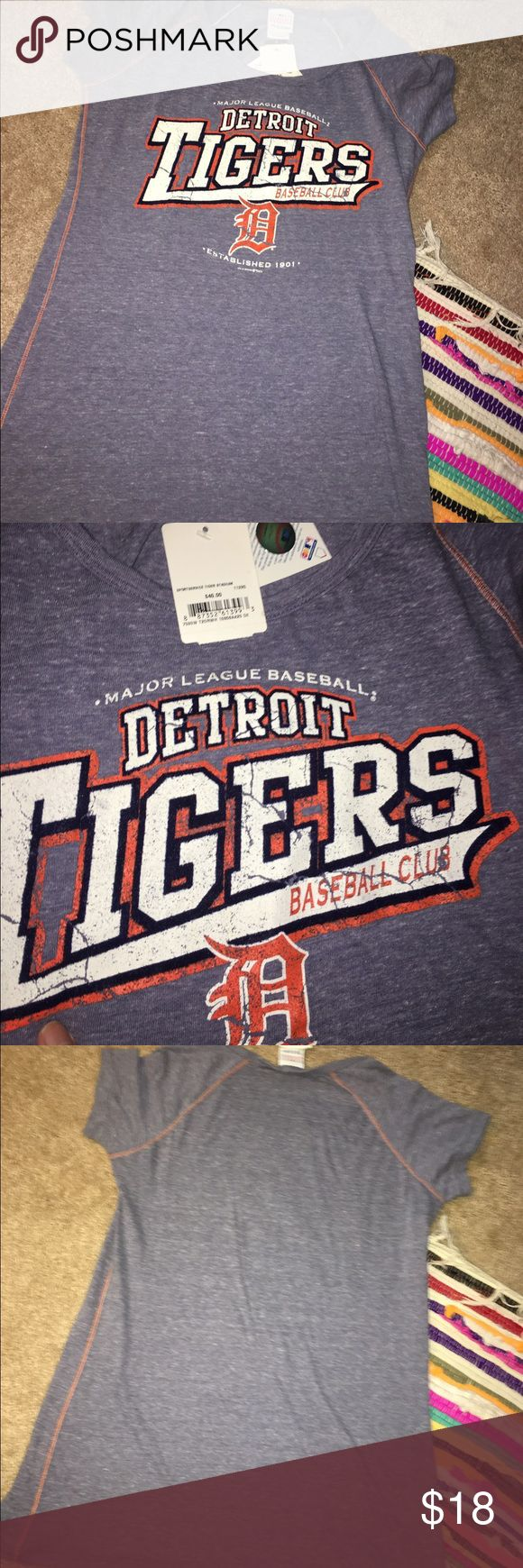 MLB tigers women's t shirt Size large new with tags Detroit tigers Ocean Drive Tops