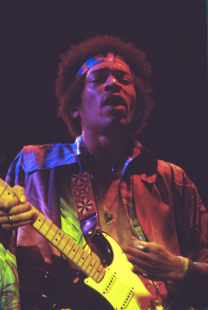 "From Jimi Hendrix's last performance at Fillmore East. This photo was used  as the cover photo for the ""Jimi Hendrix Rare"" album and as the cover photo  for the bestselling biography,  ""Jimi Hendrix – Voodoo Child of the  Aquarian Age""  by David Henderson.  Photographer: Jim Cummins  Copyright: Iconic Photos LLC  Date: December 31, 1969  Fine Art Print Medium:       * Color Prints: Hahnemühle Photo Rag Baryta, 315 gsm weight FineArt       photographic print paper     * Black & White Prints: …"