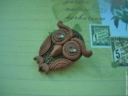 Brown owl (polymer clay) // www.livemaster.ru/clayarn