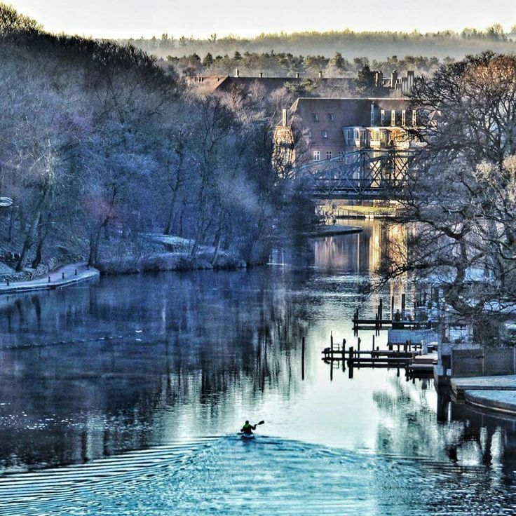 Winter morning. Silkeborg, Denmark