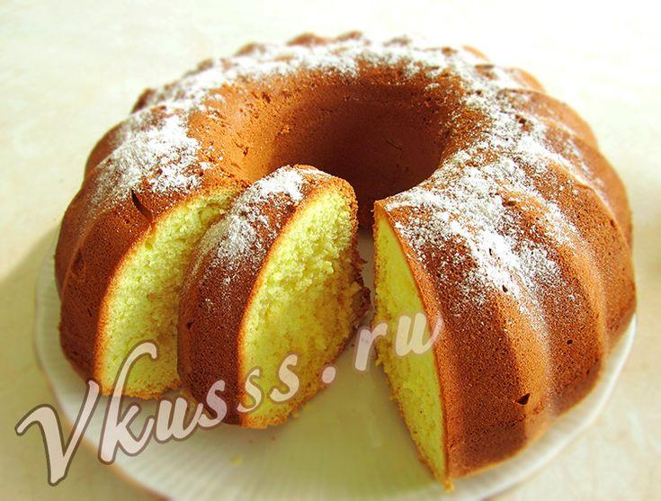 рецепт бисквитного кекса, пышный высокий бисквит в духовке