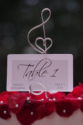TREBLE CLEF card holder / Music Note card by crosswiredesign, $50.00