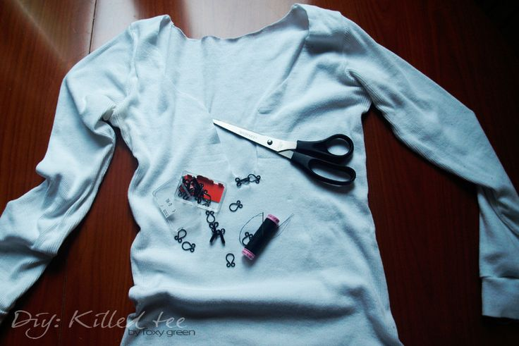 my first diy,  more: http://byfoxygreen.blogspot.sk/2014/07/diy-killed-tee.html