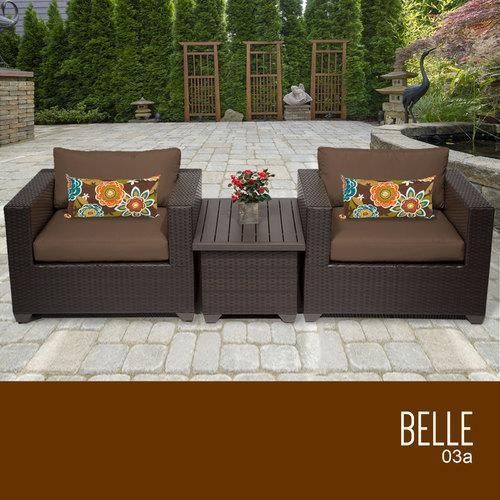 Belle 3 Piece Outdoor Wicker Patio Furniture Set 03a