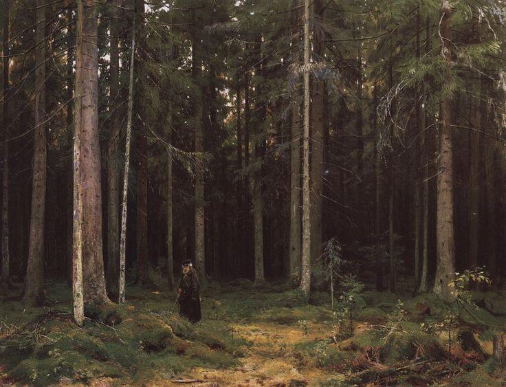 В лесу графини Мордвиновой. Петергоф 1891 81х108. Иван Иванович Шишкин