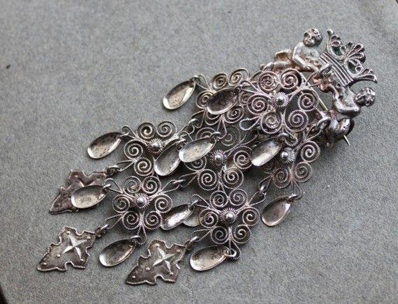 Norwegian Bridal Pin a.k.a. Norwegian Wedding Brooch or Norwegian Wedding Pin.
