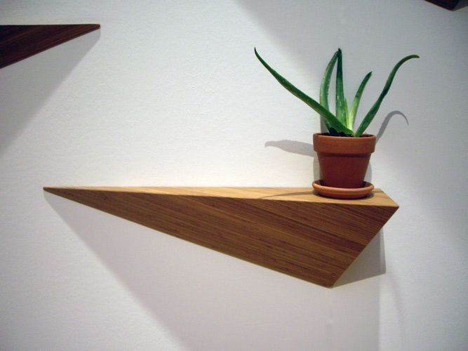 ALS Designs Angle Shelf: Brooklyn made, eco-friendly bamboo shelf that is beautiful all by itself