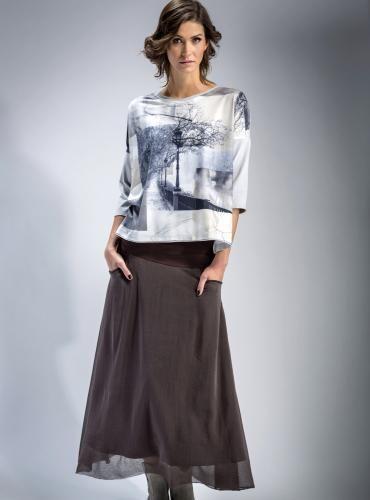 #Spódnica #brązowa z tiulem #maxi #rozkloszowana #skirt #tiul #bawełna #spódnice #modadamska #styl #mapepina #fashion #stylowo #trendy
