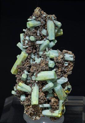 Pyromorphite with Plumbogummite.