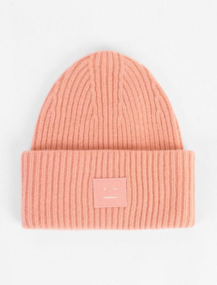 Acne Studios Pansy L Face Beanie Pale Pink