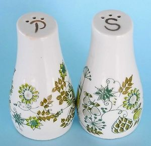 Figgjo Flint Market Salt Pepper Turi Design Norway Stylized Floral VEG Excel | eBay