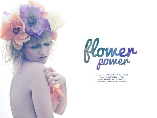 """Aleksandra Majewska: """"Flower power"""" http://www.confashionmag.pl/webitorial/artystyczny-czwartek-flower-power.html"""