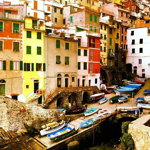 Riomaggiore harbour, Cinque Terre