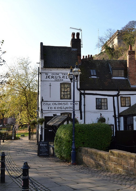 Jerusalem pub, Nottingham, England-Claims to be the oldest drinking establishment in England.
