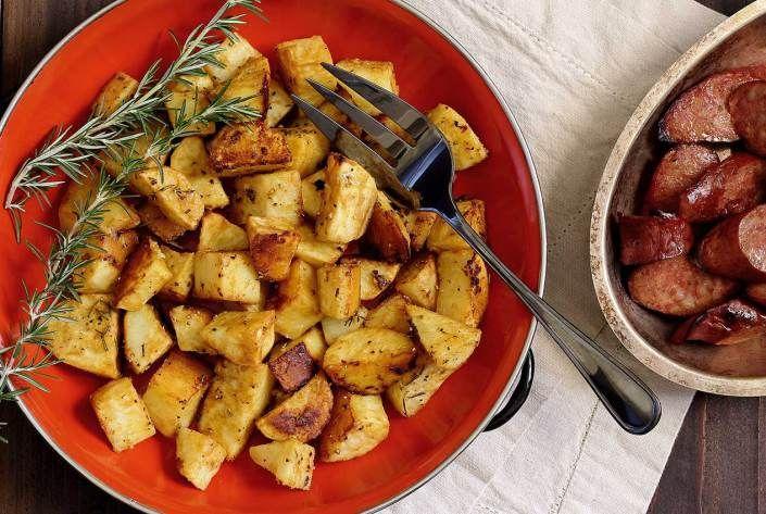 Paleo Roasted Mustard White Sweet Potatoes