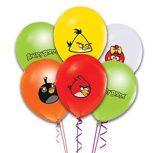 Angry Birds Latex Balon, parti balonları