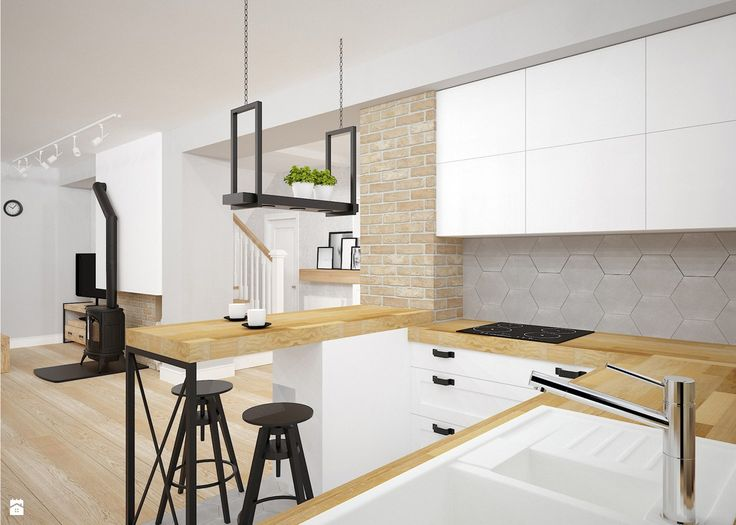 styl skandynawski kraków - zdjęcie od Archomega Biuro Architektoniczne - Kuchnia - Styl Skandynawski - Archomega Biuro Architektoniczne