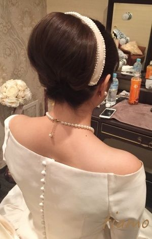 洋装と和装でイメージチェンジ大成功♡素敵な花嫁さまの一日 |大人可愛いブライダルヘアメイク『tiamo』の結婚カタログ