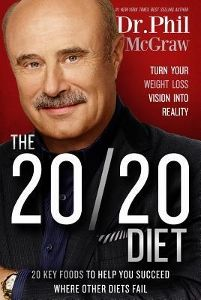 Food list for The 20/20 Diet (2015) by Dr. Phil McGraw: a diet with 3 phases per 30-day cycle. Focus on 20 power foods to boost metabolism and make you feel full. Eat 4 times a day, with protein, produce, fat, and starch with each meal. Phase 1 only 20/20 foods; phase 2 introduce a few other foods, phase 3 introduce a wider range; maintenance diet plan your own meals. Avoid (except in splurges): processed foods, non-whole grains, sugar, artificial sweeteners, red meat, full-fat dairy…