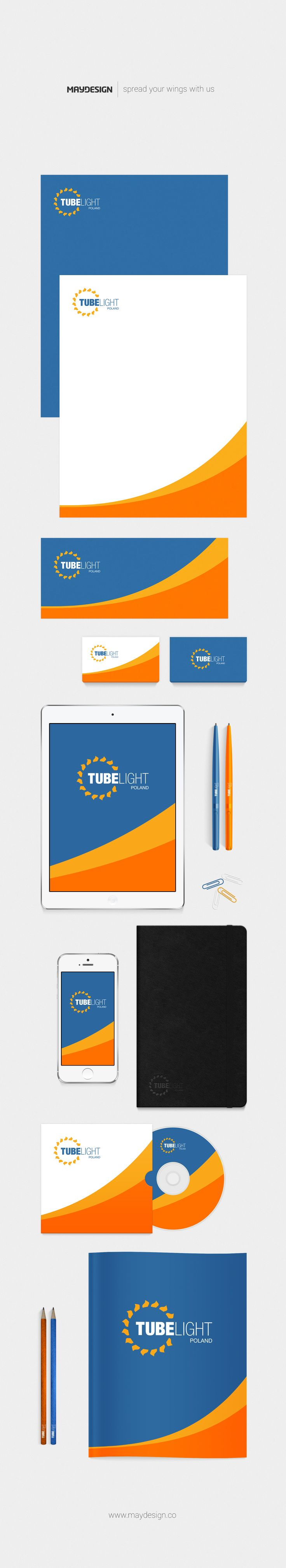 Corporate Identity – TUBE LIGHT – 2016 ––– MAYDESIGN http://maydesign.pl