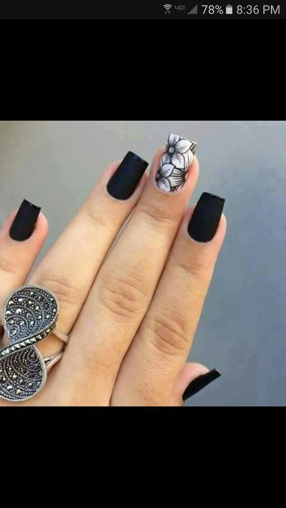 Fashion Trends Nail Art The Newest And Creative Black Nails