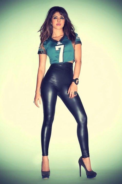 priyanka chopra // #leatherpants