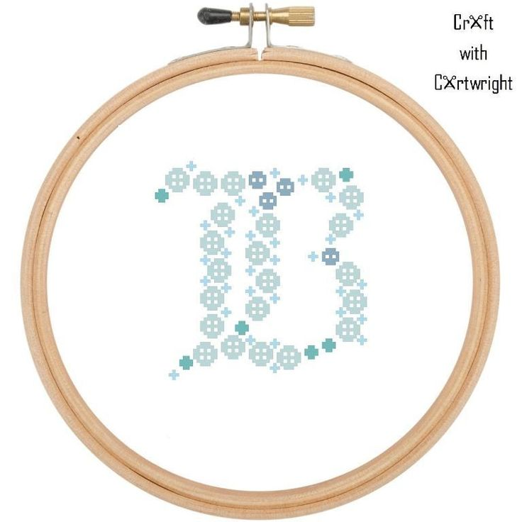 Looking for your next project? You're going to love Button Art 'B' Blue Monogram by designer craftcartwright.