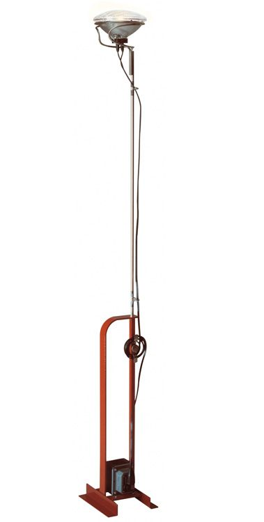 Toio floor lamp designed by Achille Castiglioni.  Will have to bring from Manhattan apartment.