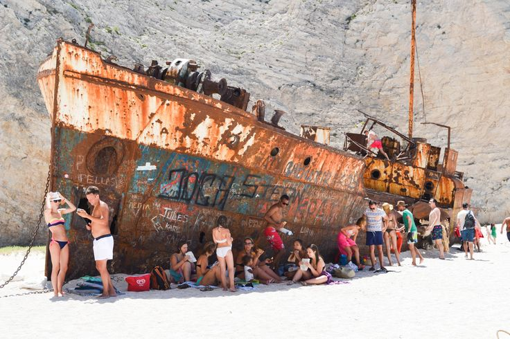 Navagio Beach, the crock