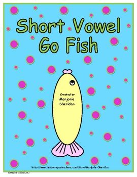 The Short Vowel Go Fish game is a fun center activity created to practice CVC short vowel words and blending.